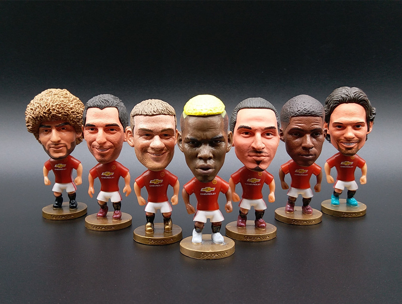 Soccerwe England Soccer Stars Lovely Action Figures Toys Fans Collection Football Dolls Gift Rooney Pogba Ibrahimovic Beckham