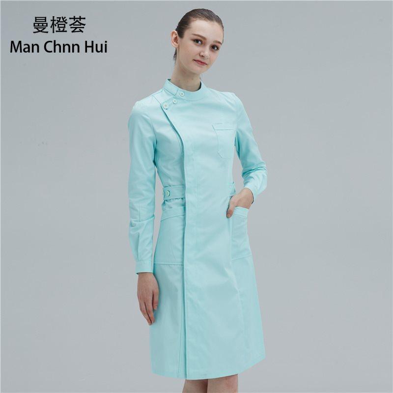 Ladies Medical Gown  Medical Lab Coat Hospital Doctor Slim Multicolour Nurse Uniform Winter Medical Overalls