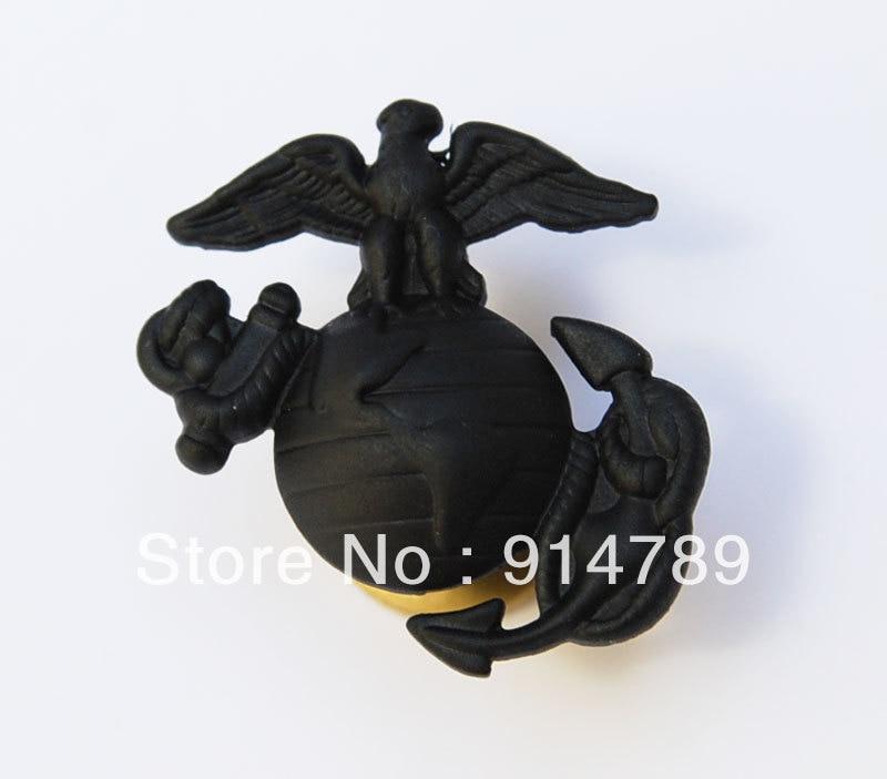 US MARINE CORPS EAGLE GLOBE ANCHOR MINI CAP BADGE INSIGNIA BLACK-33151
