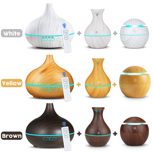 Image 4 - 3pcs Wood grain Air  Humidifier set Aroma Essential Oil Diffuser Ultrasonic Cool Mist Purifier 7 Color Change LED Night light