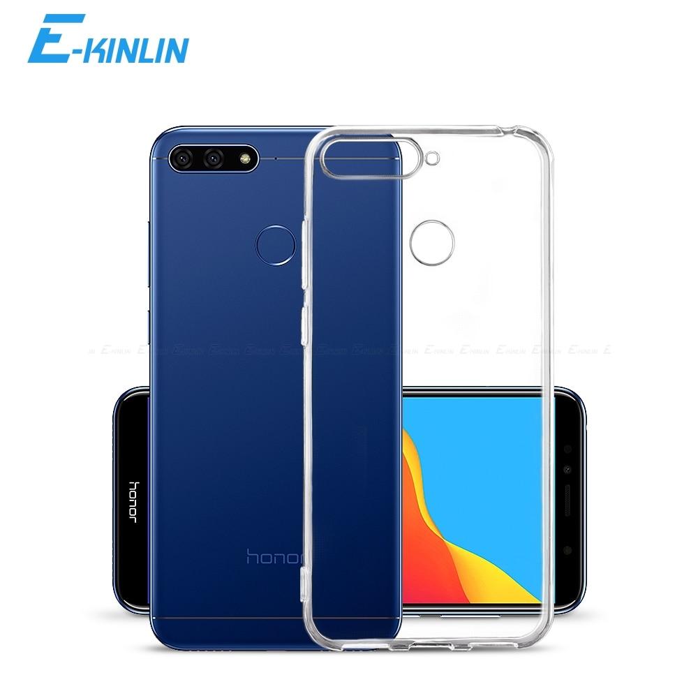 Прозрачный силиконовый чехол для телефона с полным покрытием для HuaWei Honor 9X Премиум V9 9A 9C 8A 8C 8X 8S фотоаппаратов моментальной печати 7S 7A 7X 7C 7 6A 6C 6X 8 Pro Max глобальной чехол из термопластичного полиуретана