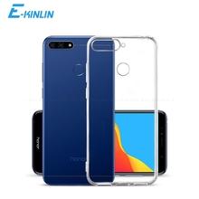 Przezroczysta silikonowa tylna obudowa do HuaWei Honor 9X Premium 9A 9S 8A 7S 7A 7X 7C 7 6C 6X Pro Lite Max globalne etui z tpu tanie tanio E-KINLIN CN (pochodzenie) Aneks Skrzynki Ultra Thin Transparent Clear Soft Silicone TPU Phone Case Back Cover Honor 7X Przezroczysty