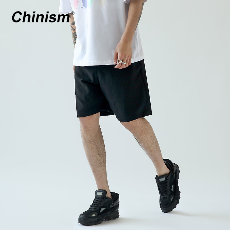 Chinism Sommer Klassische Casual Männer Strand Shorts Schwarz Skateboard Kurze Mode Board Shorts Solide Premium Allgleiches Shorts