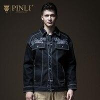 Курточка бомбер для мужчин распродажа Militar Pinli продукт Сделано плюс осень новый одежда свободные вышитые ленты B183304206 пальто