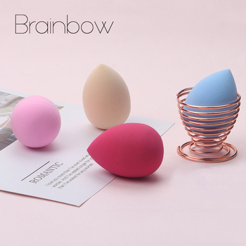 Brainbow 1pc Soft Make Up Beauty Sponge for Dry Wet be Bigger Foundation Cosmetic Puff Cream Powder Smooth Make Up Face Nose Eye