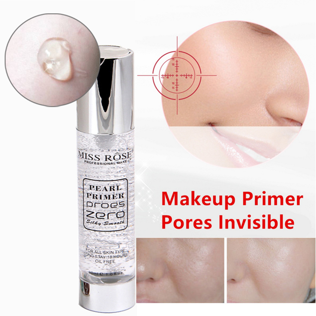 2018 New Professional Primer Make Up Kit Easy to Wear Moisturizer Brightening Miss Rose Brand Face Makeup Primer Cosmetics  Gel
