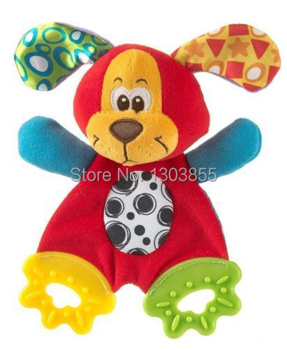 2014 HOT Baby Infant Soft Appease Toys Towel Playmate Calm Doll Teether Developmental Toy Dog