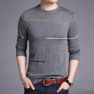 Image 2 - Liseaven zimowy sweter męski marka sweter na co dzień męski O Neck Slim Fit Knitting męskie swetry męskie topy
