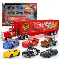 7pcs Disney 7 23cm Racing Truck Car 1 64 Alloy Car Action Figure Model Toy Gift