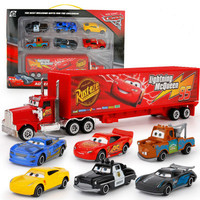 7pcs Disney 7 23cm Racing Truck Car 1 64 Alloy Car Action Figure Model Toy Gift