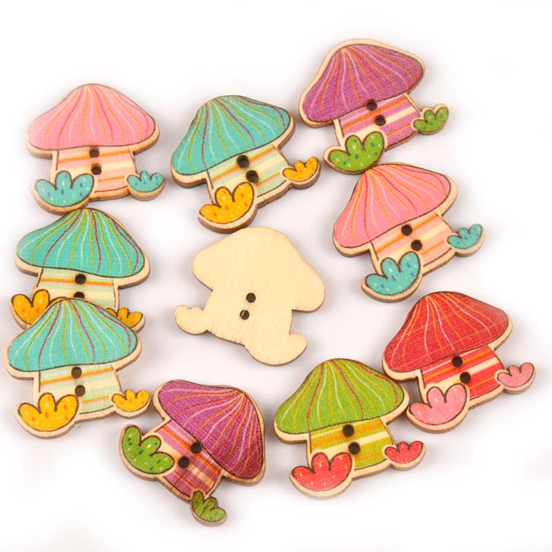 Home & Garden Arts,crafts & Sewing 25pcs Paint Small House Wooden Decorative Buttons For Sewing Children Garment Lovely Woodcraft Button Scrapbook 30x30mm M0734x To Invigorate Health Effectively