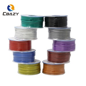 CBAZY Silicone 18AWG 15 M, fil de silicone flexible, fil de cuivre cannelé, fil de bricolage en option, 10 couleurs(China)