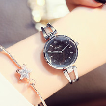 hot deal buy kimio crystal stars ladies bangle watches women fashion black watch bracelet quartz womens watches top brand wristwatch relogios