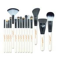 15-piece Makeup Brush Kit Animal Hair Syntehtic Hair White Handle Conveniently Portable Make Up Brush Set J1503