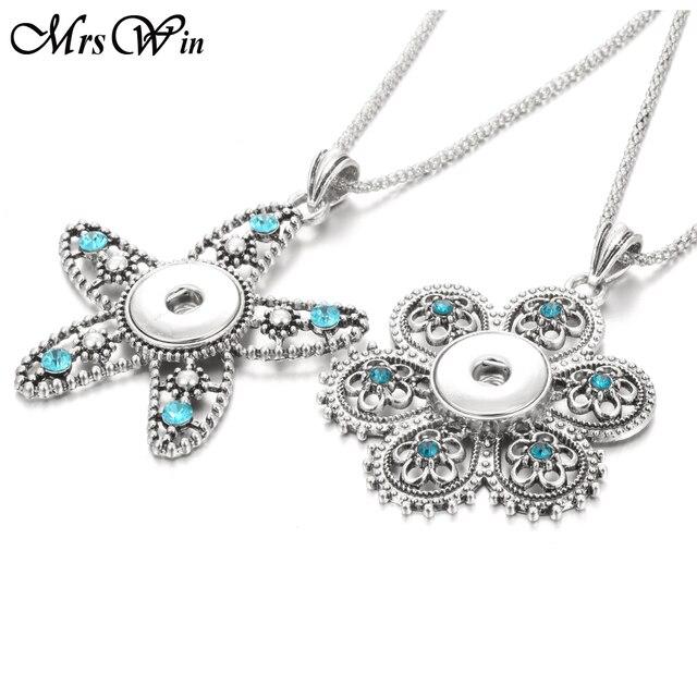 e543ed879e5b Broche de joyería colgantes cristal estrella de mar flor broche botón collar  con cadenas para mujeres