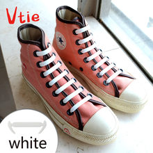 24PCS Black&White Color Shoelaces Shoes Accessory No Tie Silicone Shoelaces for Sneaker And Boots(China)
