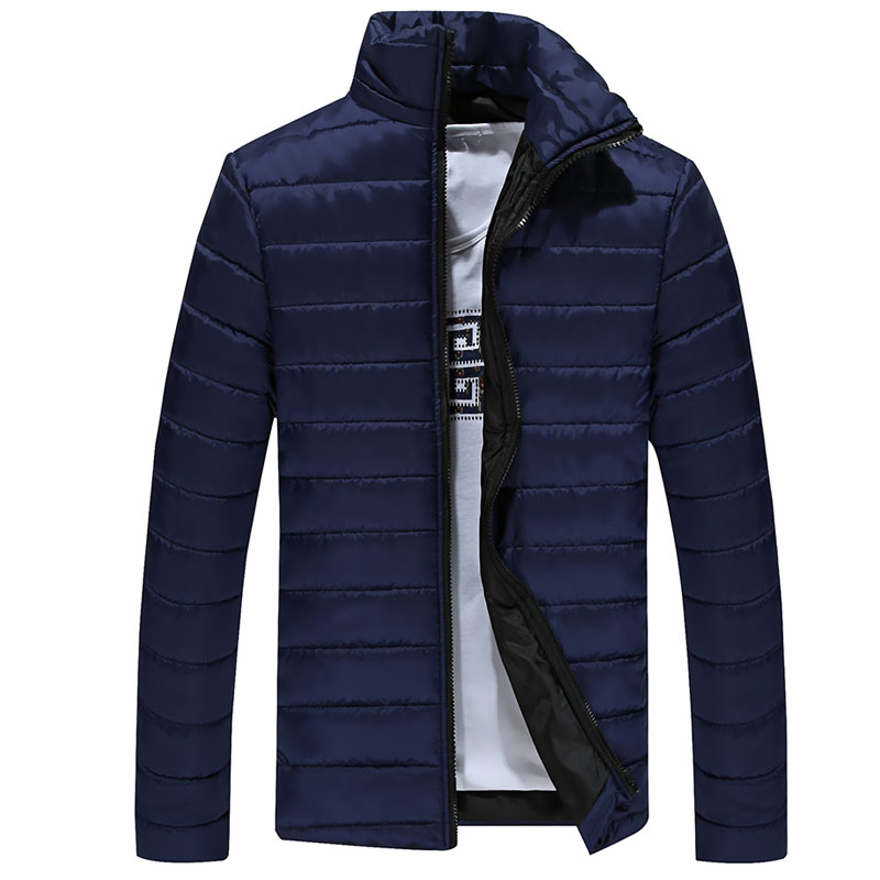 2016 Winter Solid Men Jackets Spring Men's Cotton Blend Mens Jacket And Coats Casual Thick Outwear Plus Clothing Male 3XL ghhd