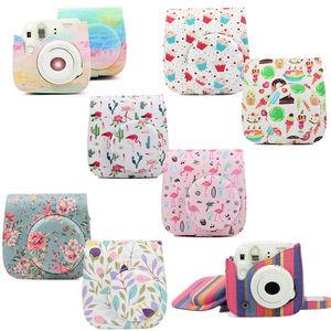 Image 2 - Optional Carry PU Leather Bag Case Cover with Shoulder Strap For Fujifilm Instax Mini 9 Mini 8 Mini 8+ Instant Film Photo Camera