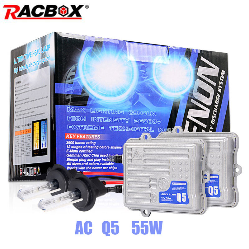 AC 55W Fast Start Ballast HID Bulb Car Xenon Headlight Retrofit Conversion Kit H1 H3 H7 H11 9005 HB3 9006 HB4 6000K 4300K 8000K headlight 35w hid xenon bulb slim ballast kit h1 h3 h7 h8 h9 h11 9005 hb3 9006 hb4 4300k 6000k 8000k free shipping