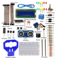 SunFounder Ultrasonic Kit for Arduino 15 Projects Ultrasonic Starter Kit V2.0 for Arduino DIY Kit (UNO R3 Board Not included)