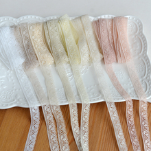 1Meter Different Color Ribbon Doll Lace Accessories Handmade Fabric Clothing Materials Skirt Width 1.2cm