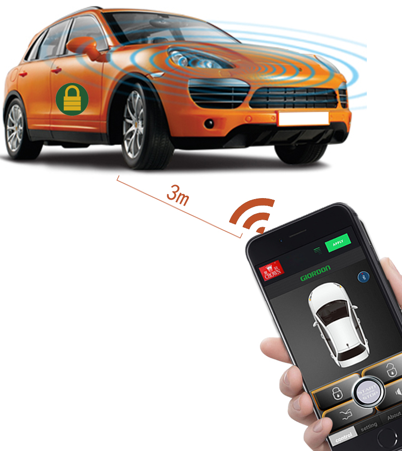 For Bmw Remote Start Smartphone Car Key Auto Keyless Entry System Car Alarm System Auto PKE Start Stop Remote Central Locking in Burglar Alarm from Automobiles Motorcycles