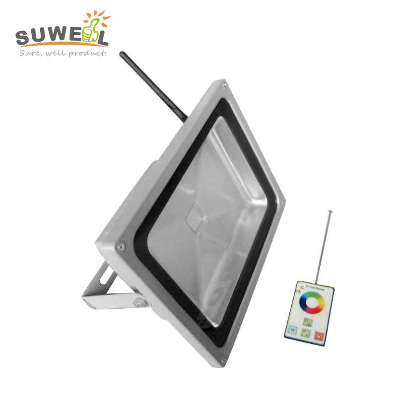 110v 220v spotlight rf remote control cob 60w rgb led changing colored outdoor christmas flood lights wall decorations 12v 50w colored rgb outdoor lights 110v wall projector flood light garden waterproof landscape lamp remote control by dhl 6pcs
