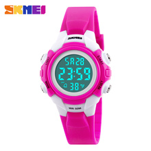 SKMEI Children Digital Wristwatches Boy Girl Sports Clock 50M Waterproof Alarm LED Display Chronograph Fashion Kids Watches 1183
