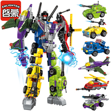 Enlighten Mecha Educational Building Blocks Toys Robot Transformer Helicopter Aircraft Army Car Destroyer Ares Tank