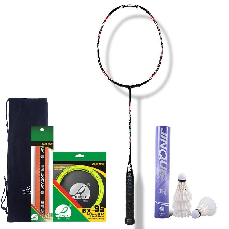 ZuverläSsig Heißer Verkauf Doppel Fisch Hohe Qualität Carbon Faser Mit Gewebt Gestrickt Badminton Schläger 999a Badminton 86g Bis Zu 30lbs Badminton Schläger