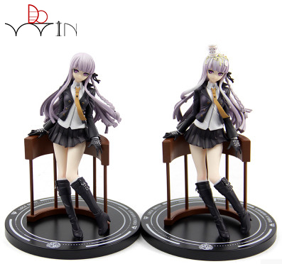 Anime Danganronpa Dangan Ronpa Ultra High School Class Kirigiri Kyouko Doll PVC Figure Resin Collection Model Toy Gift free shipping cute 4 nendoroid monokuma super dangan ronpa anime pvc acton figure model collection toy 313 mnfg057