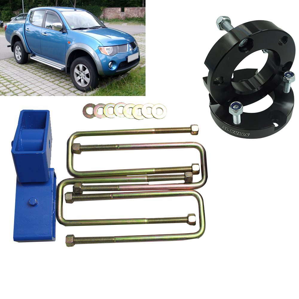 Front And Rear Suspension Lift Up Kits For Mitsubishi Triton L200 Coil Strut Shock  Spacers Spring Raise UBolt Kit Raise Adapter