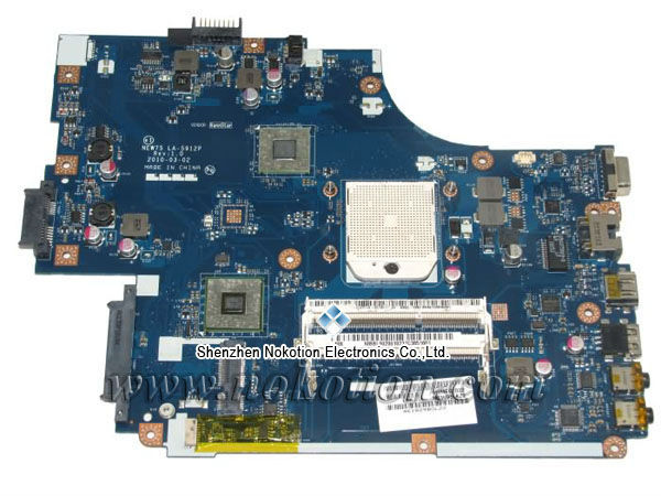 NOKOTION Laptop Motherboard for Acer Aspire 5551 NV53 MBbl002001 MB. BL002.001 Mainboard Tarjeta Madre LA-5912P Mother Board mba9302001 motherboard for acer aspire 5610 5630 travelmate 4200 4230 la 3081p ide pata hdd tested good