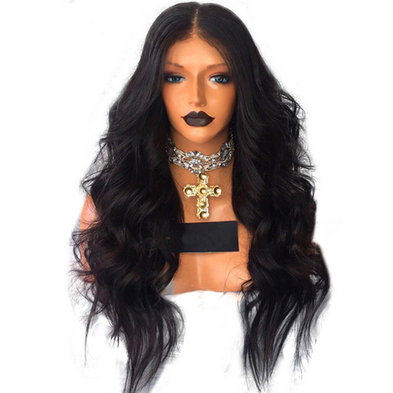 LUFFYHAIR 180% Density Peruvian Wavy Lace Front Wigs With Baby Hair Natural Hairline Remy Human Hair Lace Front Wigs Pre Plucked