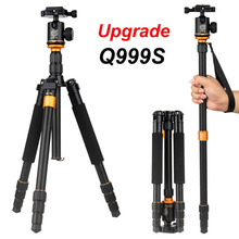 QZSD Q999S Ultra Compact and Lightweight Portable Aluminum Camera Tripod with Ball Head Monopod For Canon