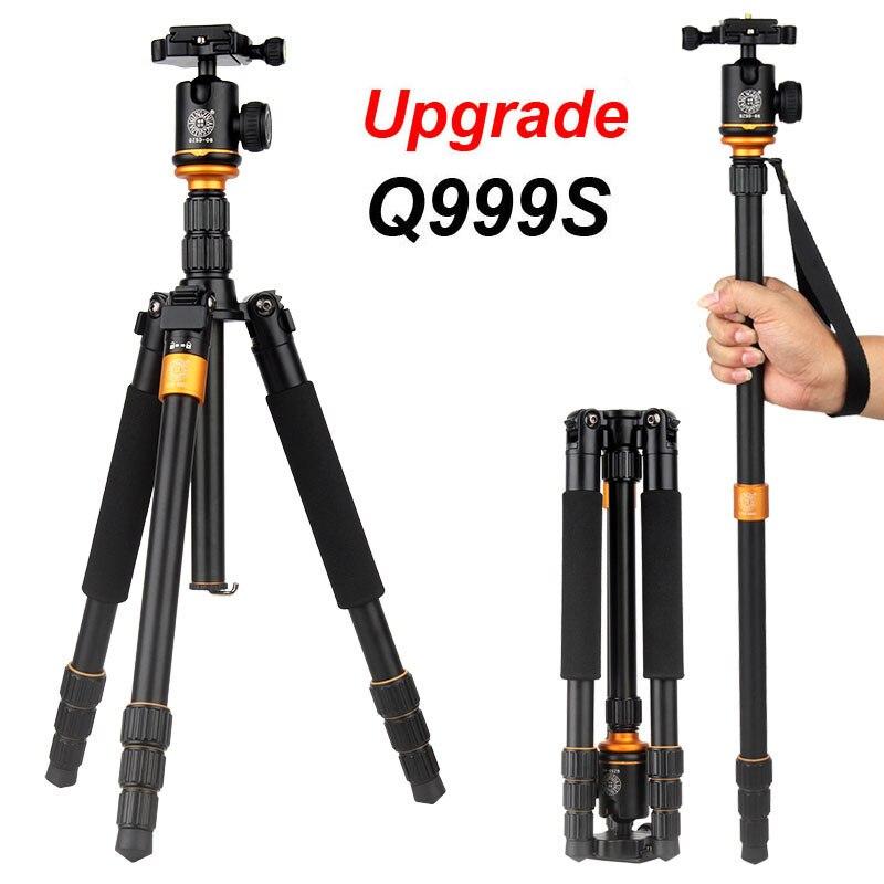 QZSD Q999S Ultra Compact and Lightweight Portable Aluminum Camera Tripod with Ba