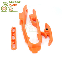 Motorcycle Dirt Bike Guide Chain Plastic Fork Protective Adhesive For KTM SX SXF SX F XCF 125 150 250 350 450 2016 2017 2018