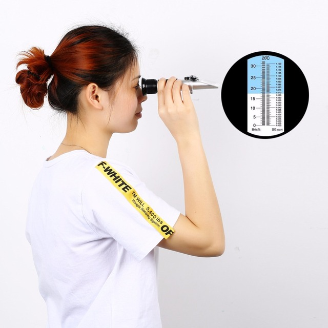 Brewing refractometer 0-32 Dual Scale – Specific Gravity 1.000-1.120 and 0-32% BrixRSG-32ATC Beer Wort and Wine Refractometer