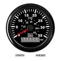 85mm GPS Speed Gauge Digital LCD Odometer Gauge Meter 35MPH 60KM/H Speedometer Sensor for Motorcycle for Car BMW E46 Boat 9~32V