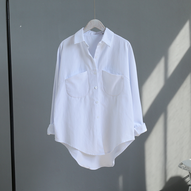 Blouse Korean Long Sleeve Tops And Blouses Vintage Women Shirts 5