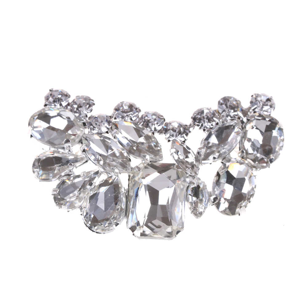 1 Piece Bridal Wedding Shoes Clips Decorative Shop Shoe Accessories Shoe Clip Crystal Rhinestone Charm Decoration Metal Material bsaid1 piece shoes flower rhinestones clip decoration buckle crystal pearl women decorative accessories insert fitting charm