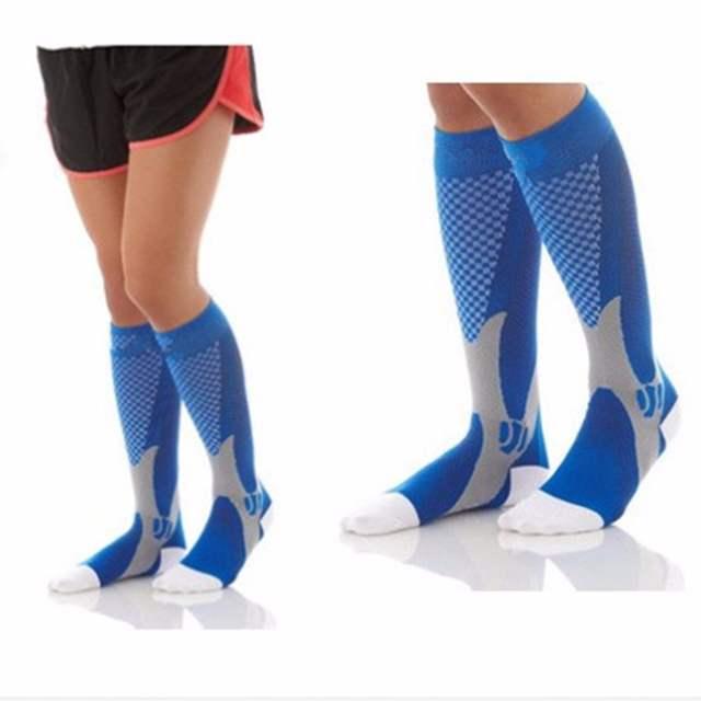 ad701e55e4 High Sale Unisex Leg Support Stretch Compression Socks Below Knee Socks Men  Women Magic Performance Workout