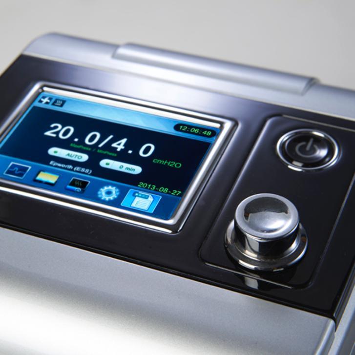 100% Haute Qualité Portable Auto CPAP Machine Pour L'apnée Du Sommeil dispositif thérapeutique Argent Shell 3.5 Pouce TFT Écran