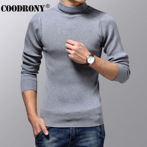 Image 3 - COODRONY Turtleneck Sweater Men Winter Thick Warm Wool Sweaters Christmas Knitted Cashmere Pullover Men Slim Fit Jersey Man 6703