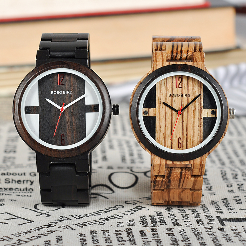 Zebra Ebony Wooden watch, with a Gift box 1