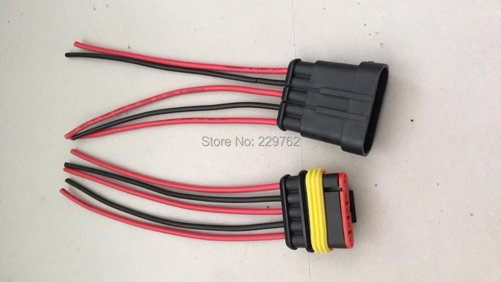 5 Way Sealed Waterproof Electrical Wire Auto Connector Plug