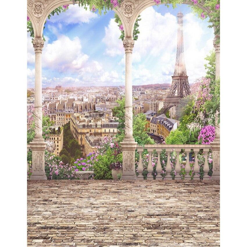 Allenjoy fotoğrafçılık backdrop Paris Eyfel Kulesi mavi - Kamera ve Fotoğraf - Fotoğraf 2