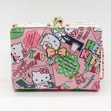 Hello Kitty short cute purse High quality PU cat wallet Fashion wallet women luxury brand More than a cat pattern