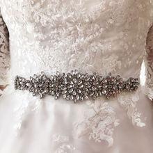Свадебные аксессуары slbridal свадебный пояс с кристаллами атласный