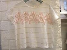 Sciaccamini 2016 nouveautés coton fleurs appliques rayures d'été simples de fille T-shirt 3 4 5 6 7 8 9 10 11 12 ans